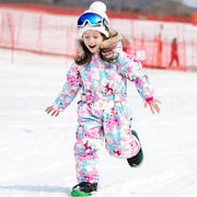 Girls Blue Magic Winter Waterproof Colorful One Piece Ski Suits Jumpsuits Coveralls
