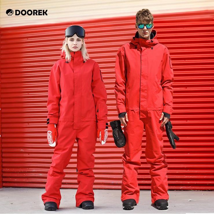 Doorek Superb Red One Piece Ski Suits Winter Snowsuits