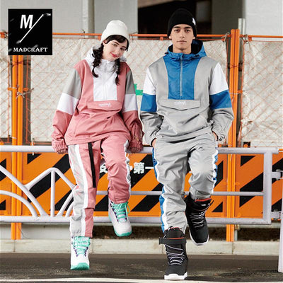Mad Craft Unisex Couple's Style Two Pieces Snowboard Suit - Jacket & Pants Set