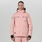 Men's High Experience Top Quality Winter Fashion Outerwear 15k Waterproof  Pink Ski Snowboard Jackets