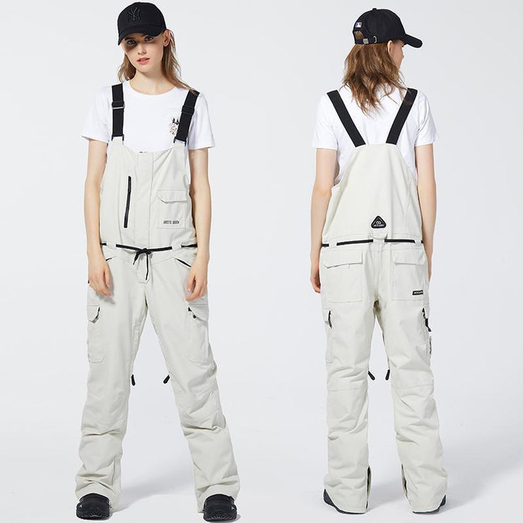 Arctic Queen French Chic Unisex Snowboard Ski Bib Pants
