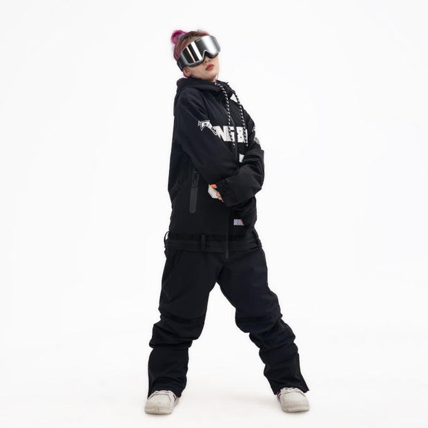 Women's PINGUP Icy Hockey Dope Style One Piece Snowboard Suits