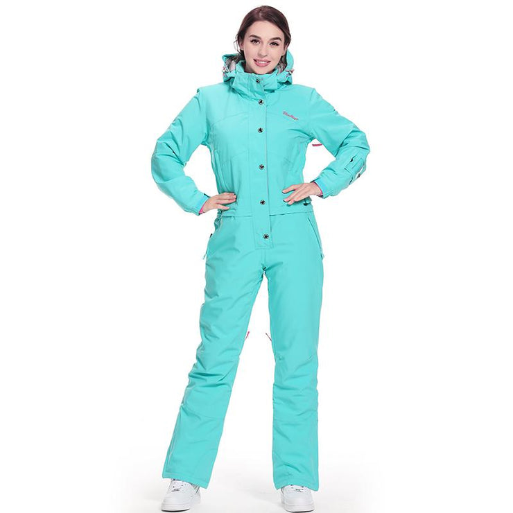 Women's Blue Magic Winter Chic Full Body One Piece Ski Jumpsuit Winter Snowsuits