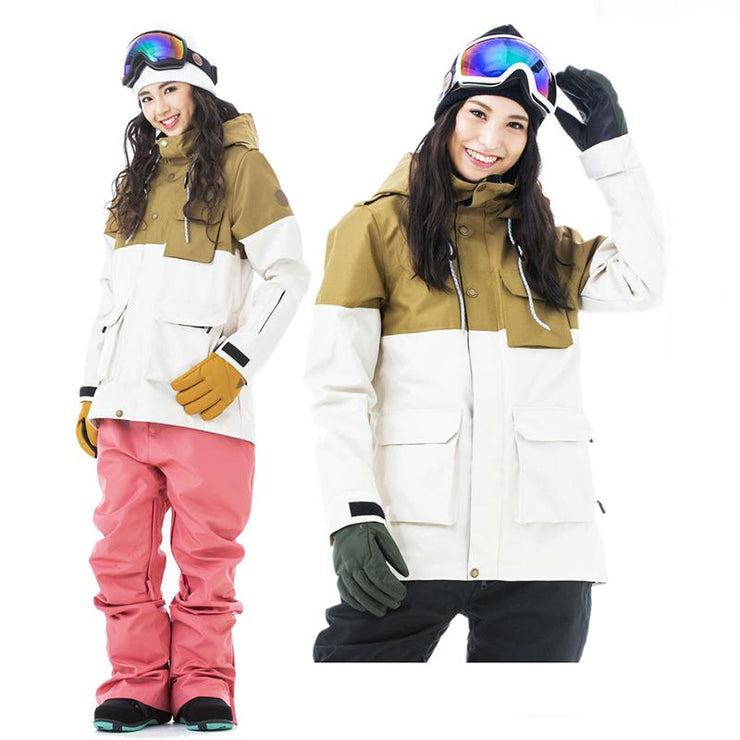Women's Japan Secret Garden Grande Type-B Solid Color Snowboard Jacket