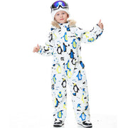 Kid's Blue Magic Waterproof Colorful One Piece Coveralls Ski Suits Winter Jumpsuits