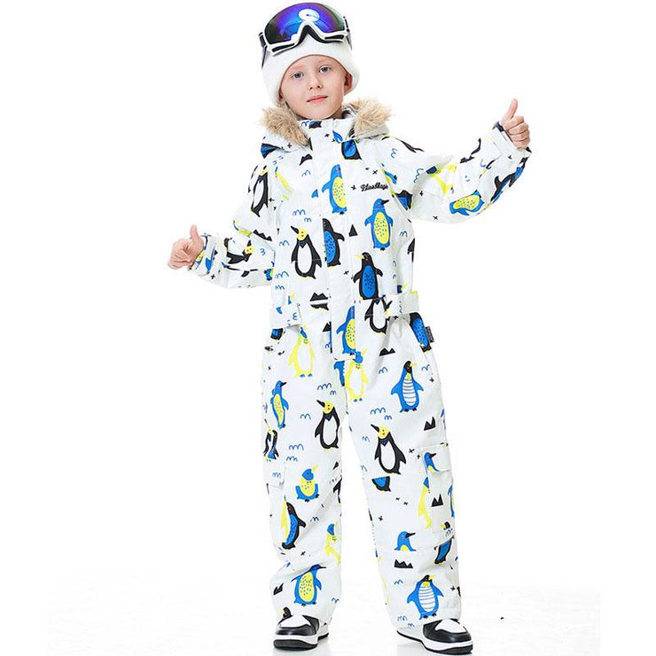 Kid's Blue Magic Winter Waterproof Colorful One Piece Snowsuit Ski Jumpsuits