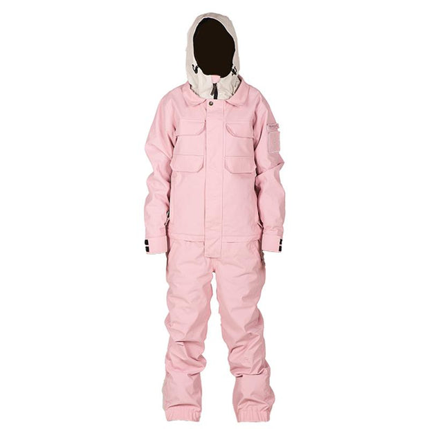 Doorek Superb Pink One Piece Ski Suits Winter Snowsuits