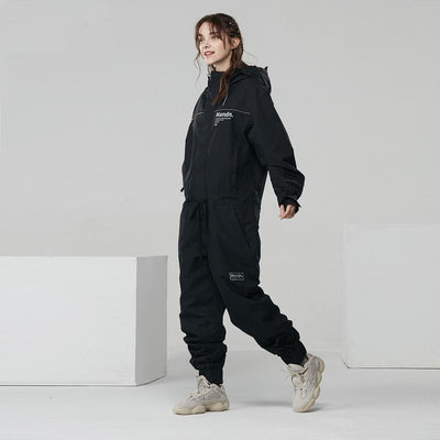 Women's Nandn Urban Fashion Winter Outdoor Sportswear Waterproof One Piece Snowboard Suits