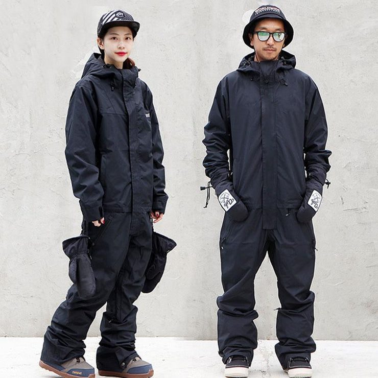 Doorek Superb Black One Piece Ski Suits Winter Snowsuits