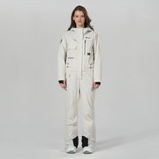 Women's High Experience Winter Snowsports Stylish One Piece White Snowboard Suits