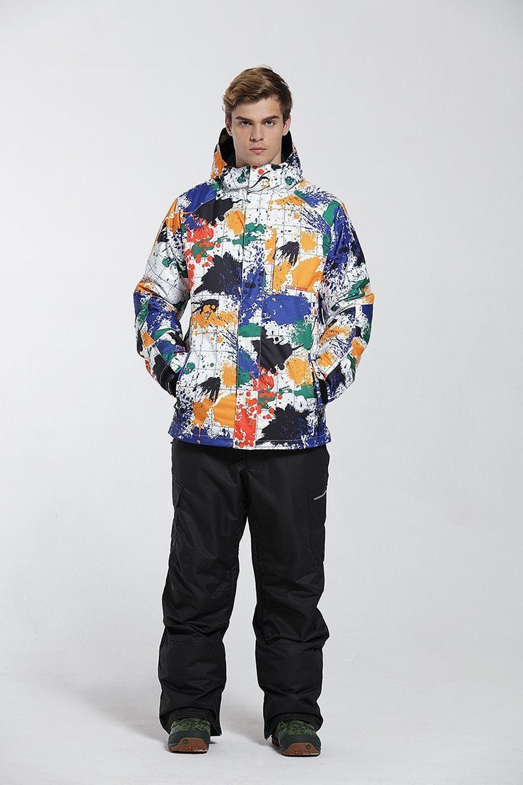Men's Chamonix Masterpiece Art Painting Ski Suits - Venturelite