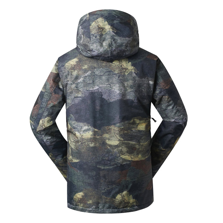 Men's Mountain Elite Snow Jacket (Fossil Pattern) - Venturelite