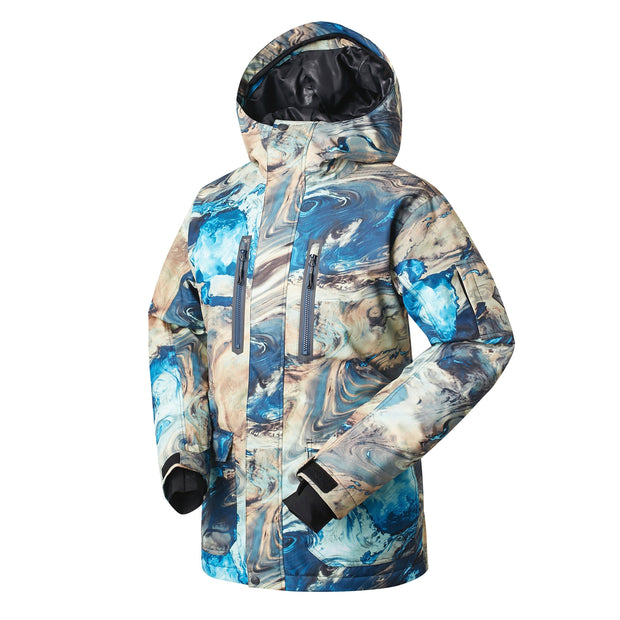 Men's Mountain Elite Snow Jacket (Tide Pattern) - Venturelite