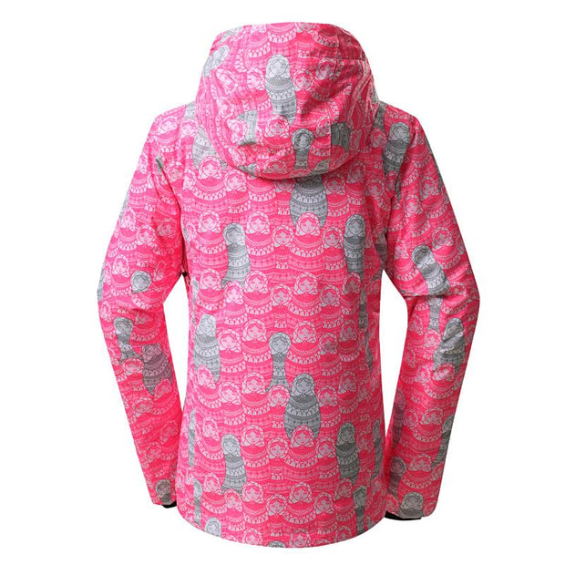 Russian Doll Patterned Snow Jacket (Women Style) - Venturelite