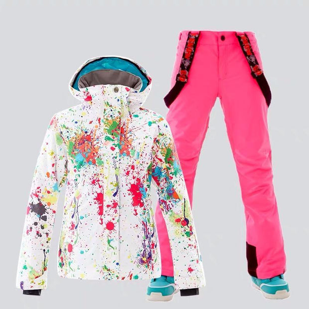 Women's Color Splash Snowboard Suits - Venturelite