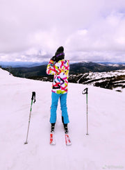 Women's Color Stripe Winter Outdoor Ski Jacket - Venturelite