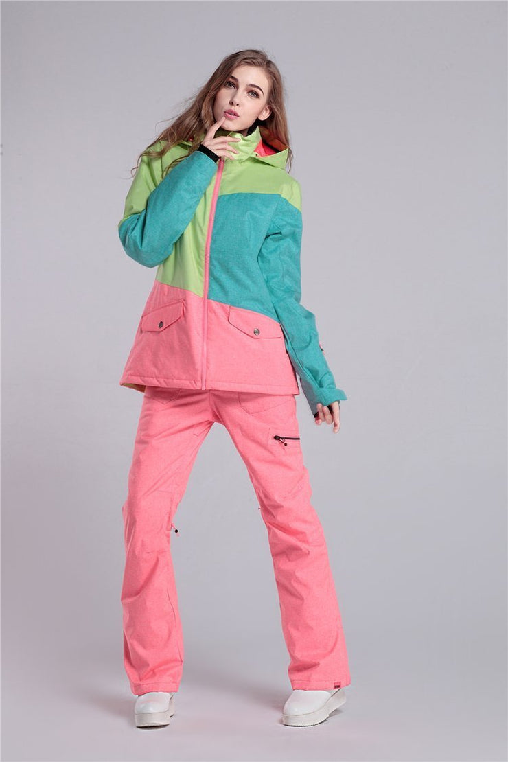 Women's Colors Mix Ski Suits - Venturelite