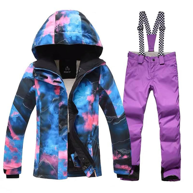 Women's Light Graffiti Ski Suits - Venturelite