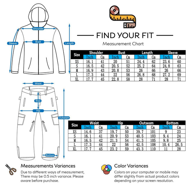 Women's Mountains Landscape Waterproof Ski Suits - Venturelite