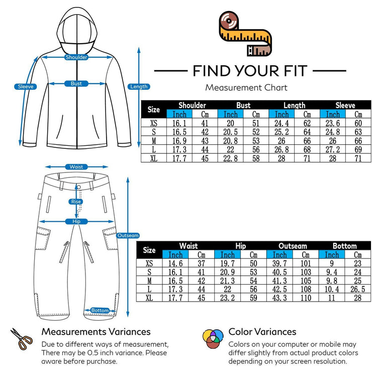 Women's Nightfall Waterproof Ski Suits - Venturelite