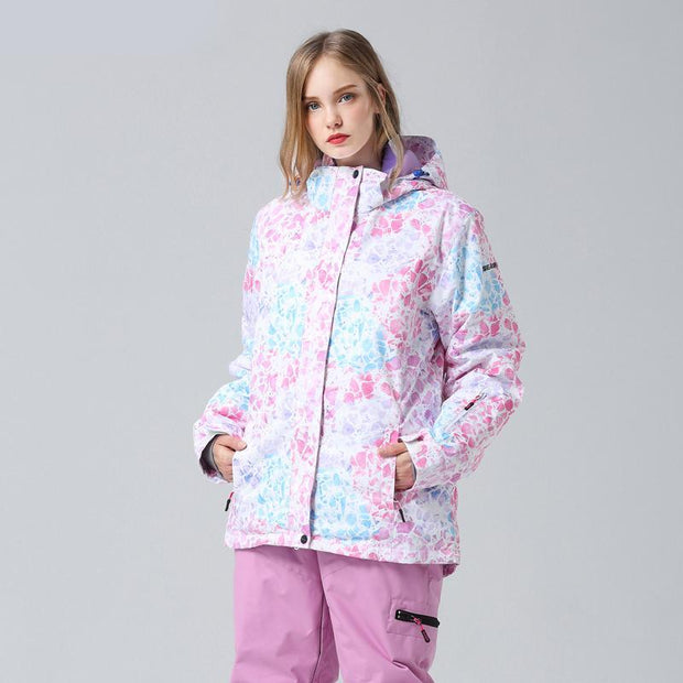 Women's Shiny Diamond Waterproof Ski Jacket - Venturelite
