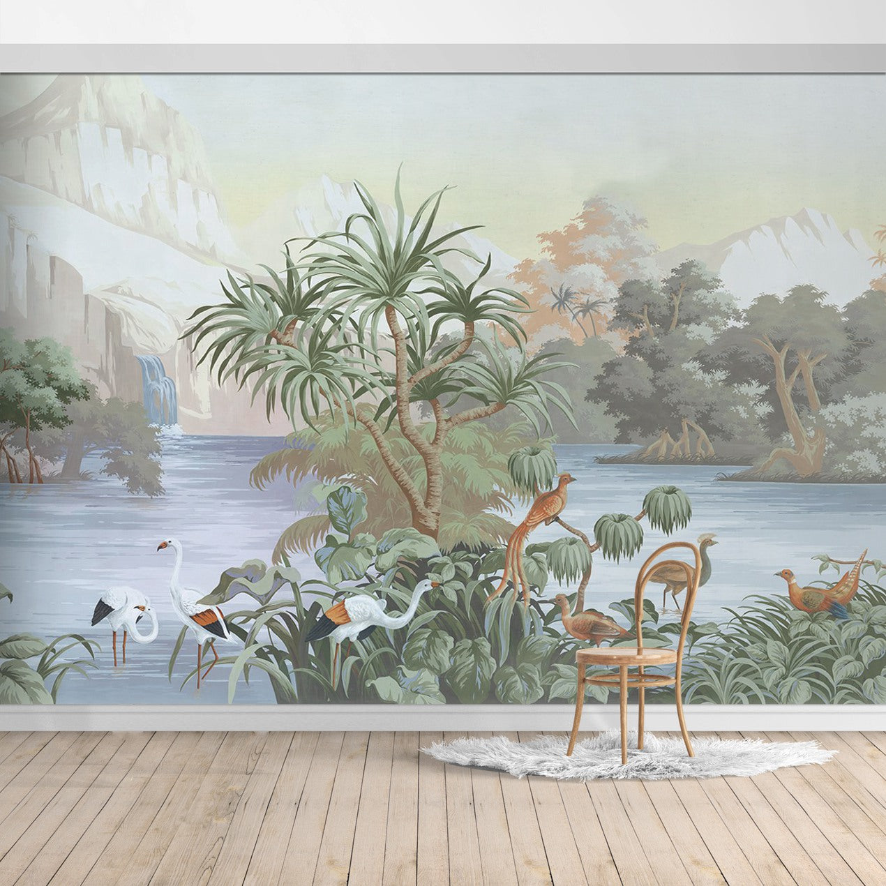 BOB017X Hawaiian style Jungle design Mural for bedroom or dinning room by SJK