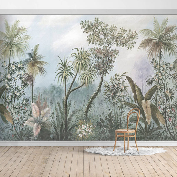BOB022-2X Hawaiian style Jungle design Mural for bedroom or dinning room by SJK
