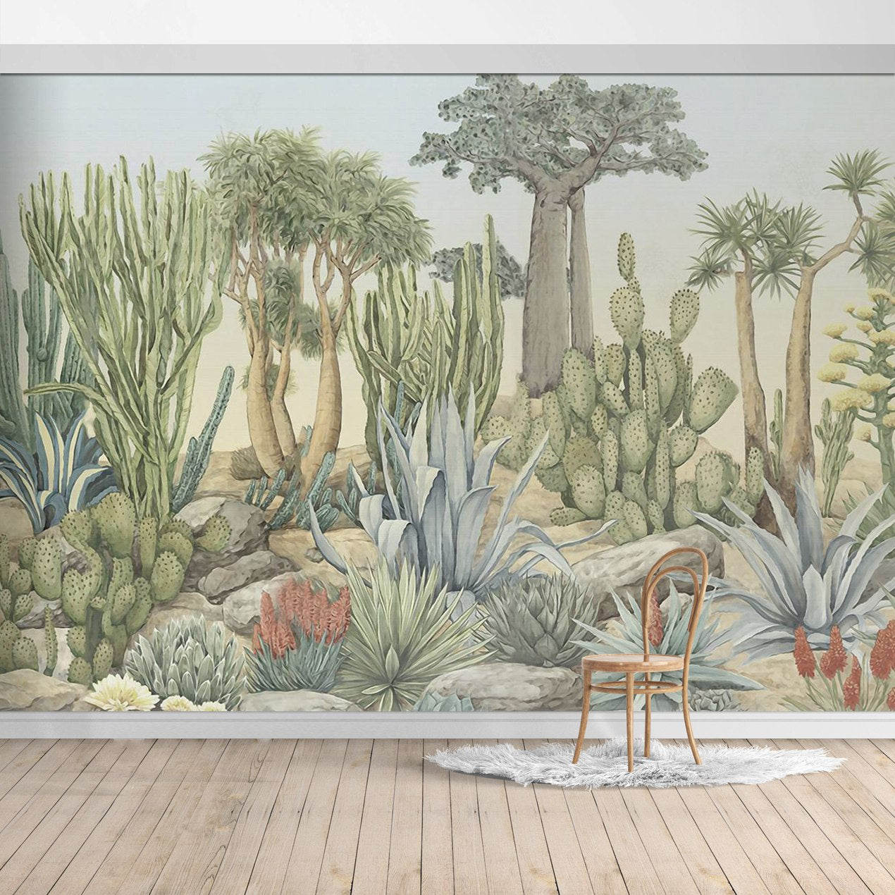 BOB024-2X Hawaiian style Jungle design Mural for bedroom or dinning room by SJK
