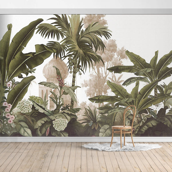 BOB052X Hawaiian style Jungle design Mural for bedroom or dinning room by SJK