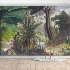 PW19052400007X Hawaiian style Jungle design Mural for bedroom or dinning room by SJK