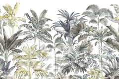 PW19052400010X Hawaiian style Jungle design Mural for bedroom or dinning room by SJK
