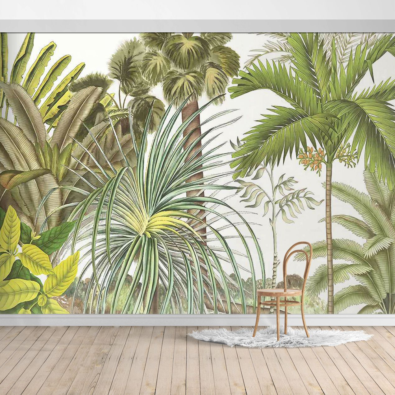 PW19052400011X Hawaiian style Jungle design Mural for bedroom or dinning room by SJK