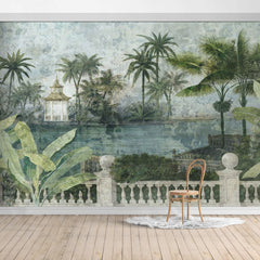 PW1905240133X Hawaiian style Jungle design Mural for bedroom or dinning room by SJK