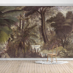 PW19052401394X Hawaiian style Jungle design Mural for bedroom or dinning room by SJK