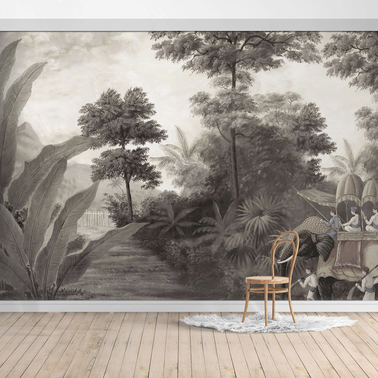 PW190524014203 Hawaiian style Jungle design Mural for bedroom or dinning room by SJK