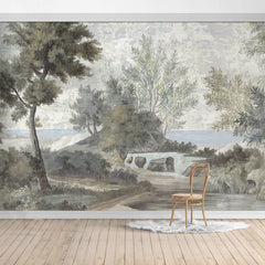 PW190524014204 Hawaiian style Jungle design Mural for bedroom or dinning room by SJK