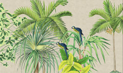 PW190524022X Hawaiian style Jungle design Mural for bedroom or dinning room by SJK