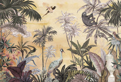 PW20190421016 Hawaiian style Jungle design Mural for bedroom or dinning room by SJK