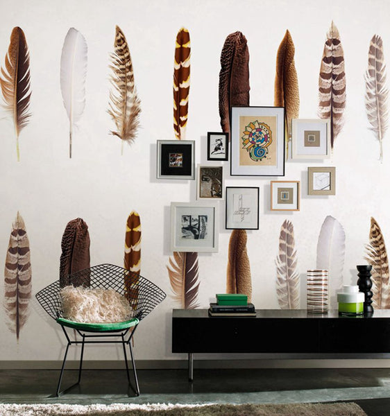 STDM30034 Feather Mural Wallpaper by SJK