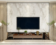 STDM30061 Nordic Black and White Marble Stone Mural Wallpaper by SJK