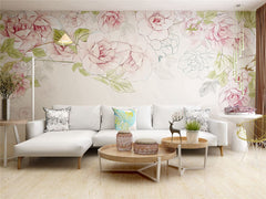 STDM30102 Exquisite Floral Mural Wallpaper by SJK