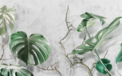 Tropical Design Wall Mural/Banana leaves  Wallpaper