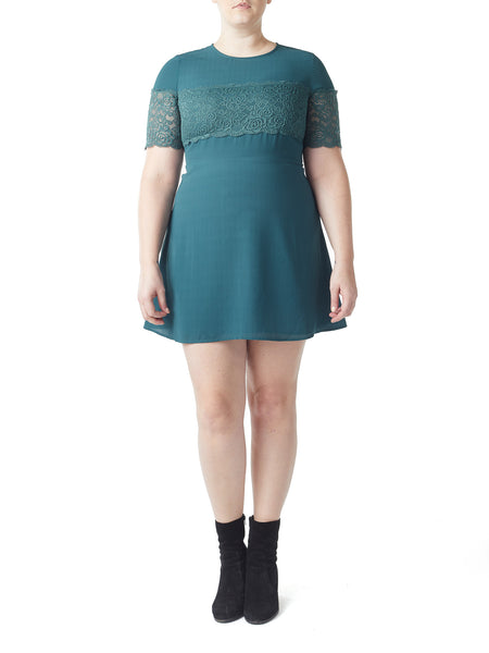 Piper Lace Overlay Dress