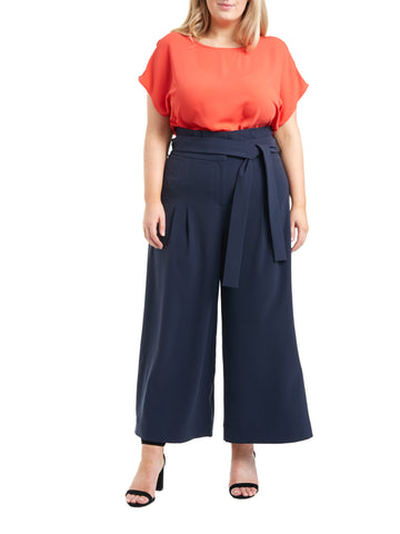 Wide Leg Belted Trouser