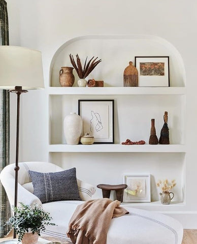 Living etc uk shelf decor