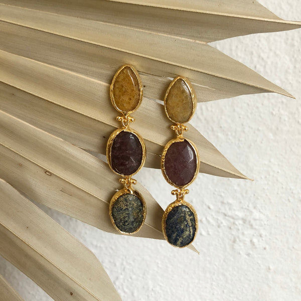 Inartisan -Kya triple stone earring