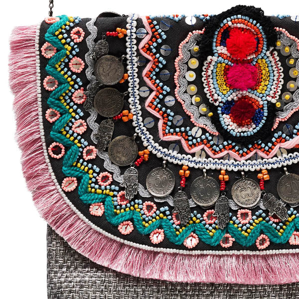 Accessories | Canvas and Sasson | Bohemia Celestial Clutch