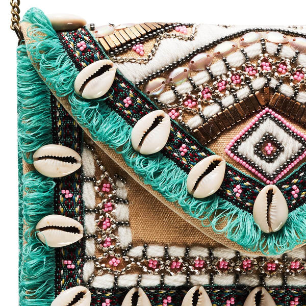 Accessories | Canvas and Sasson | Bohemia Falls Clutch