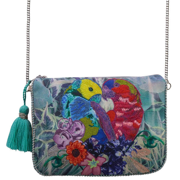 Accessories | Canvas and Sasson | Bohemia Plume purse