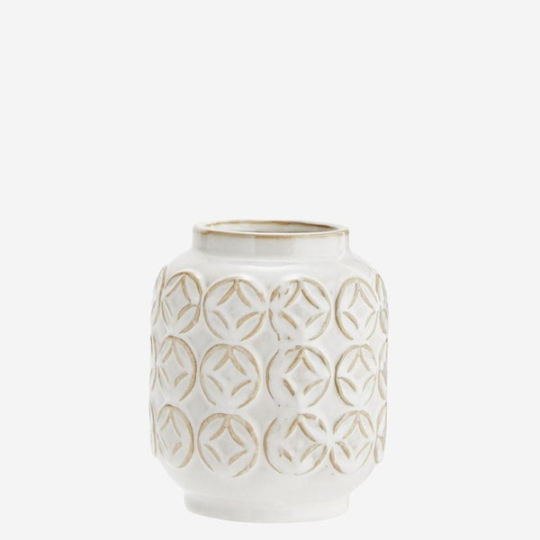 Decorative vases | Madam Stoltz | Ceramic vase with pattern